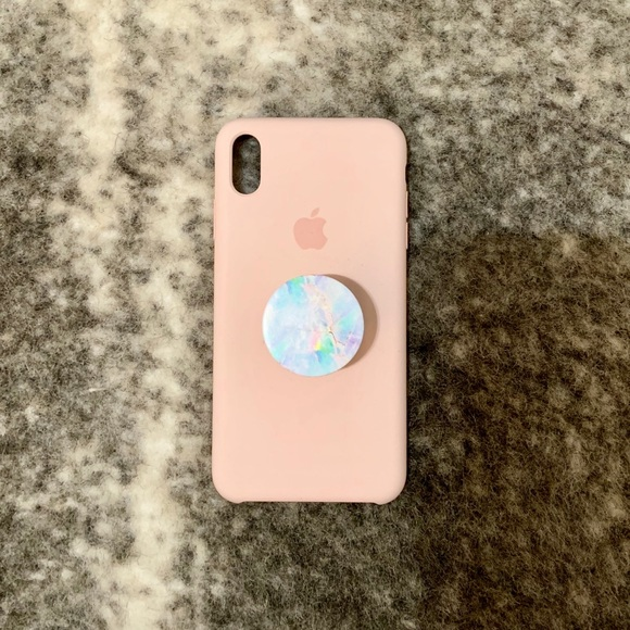 classic fit 88fce 24a97 iPhone XS Max Silicone Case Plus PopSocket
